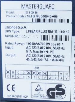 Batterie für Masterguard Chloride Linear Plus: EI 100-T und EI 100-19