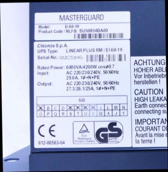 Batterie für Masterguard Chloride Linear Plus RM / EI 60-19 (kleine Blöcke)